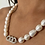 Thumbnail: Silver necklace in Genuine freshwater pearls