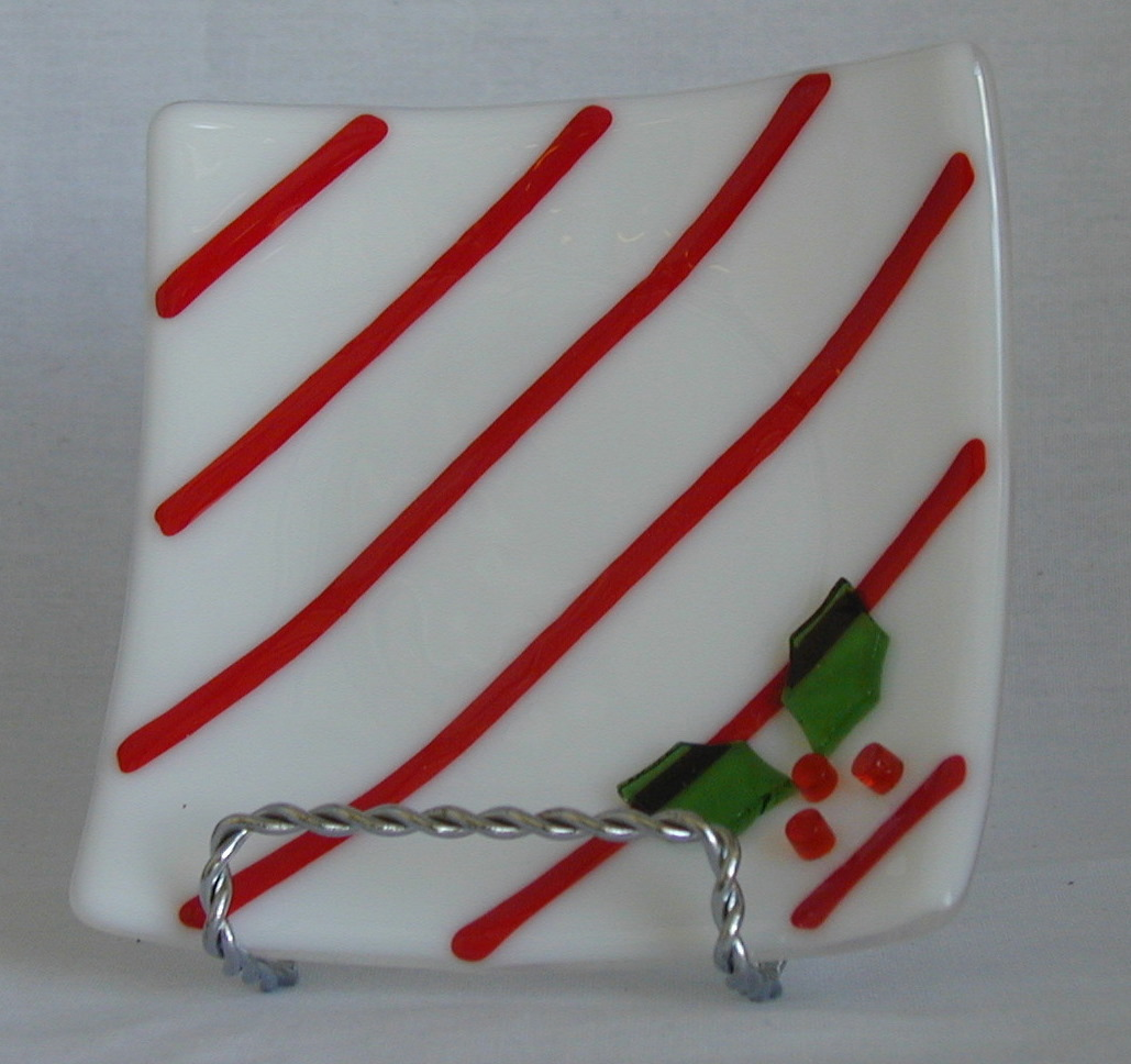 candy cane and holly