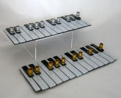 Two keyboard Chanukiah