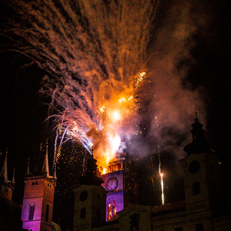 New Years Day Firework Photos in Czech
