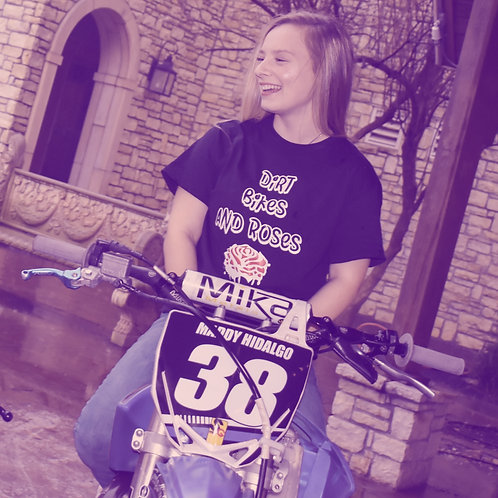 Dirt Bikes and Roses T-shirt