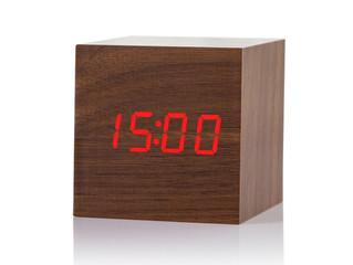 SAMI Despertador digital acabado madera