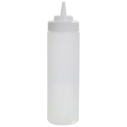 Squeeze Bottle 24 oz Clear