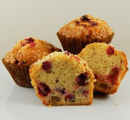 Muffins - Unbaked - Pan Free - 4.25 oz - Cranberry Nut