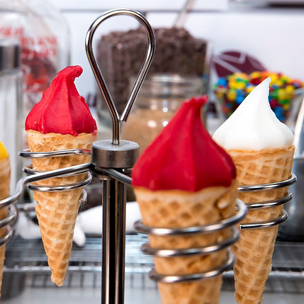 Mini Sorbet Cones Assorted