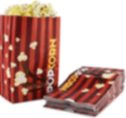 Popcorn Bags - Red Stripes