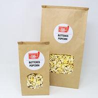 Custom Private Label Brown Window Bags of Popcorn