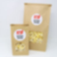 Custom Private Label Brown Window Bags of Popcorn