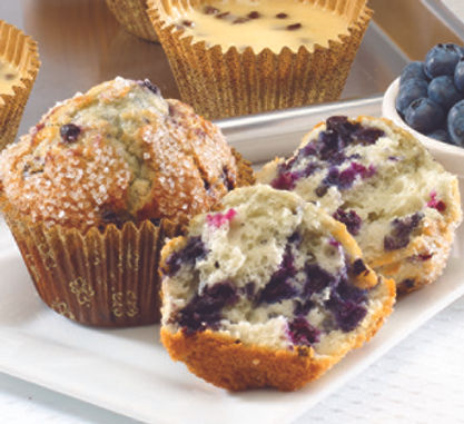 Muffins - Unbaked - Pan Free - 2.5oz - Blueberry