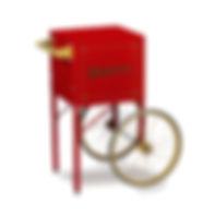 Popcorn Cart - Red Cart - Fits 4oz. Popper #2649CR