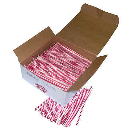 Twist Ties - Red & White Stripe
