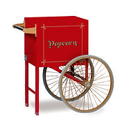 """Popcorn Cart - 18"""" Cart Red - #2659CR Fits Antique Deluxe 60"""