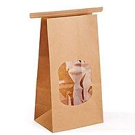 Popcorn Bags - Brown Window - Quart