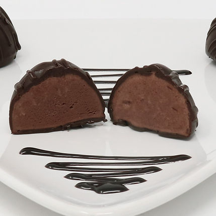 Non-Dairy Ice Cream Truffles - Chocolate