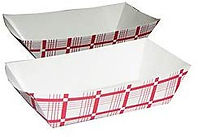 Food Tray - Red & White - #3