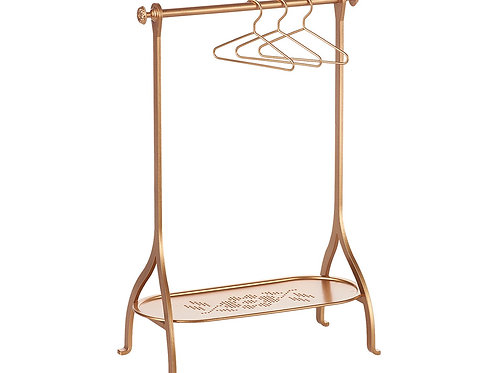 Clothes Rack, Gold , incl 3 Gold hangers