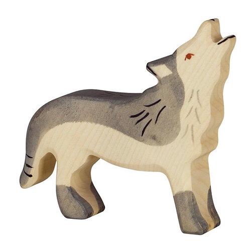 Holztiger Bosdieren: WOLF huilend