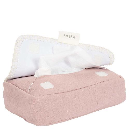 Koeka Hoes voor babydoekjes Runa old pink