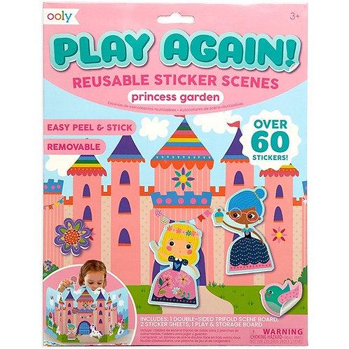 Ooly - Play Again Reusable Sticker Scenes - Princess Garden