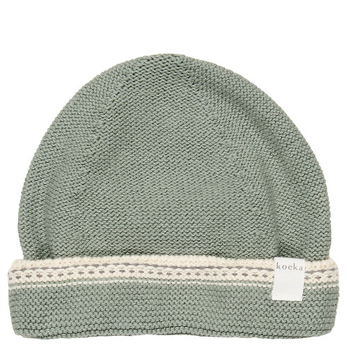 Koeka Baby mutsje Nanuk shadow green, Small