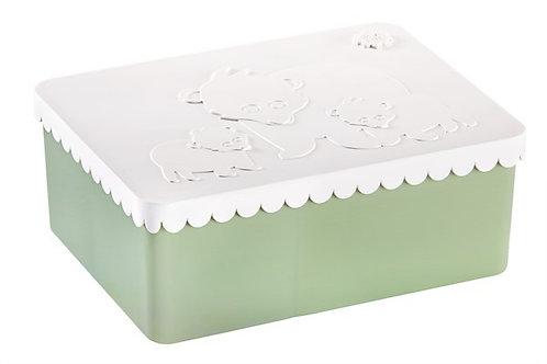 Blafre lunch box 3 compartimenten polar white+coast green