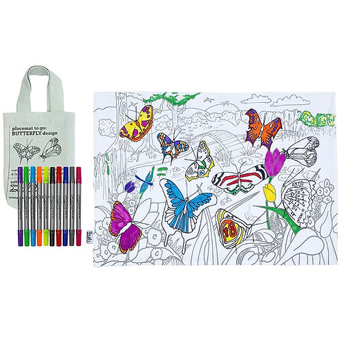 EATSLEEPDOODLE PLACEMAT - TO GO BUTTERFLY