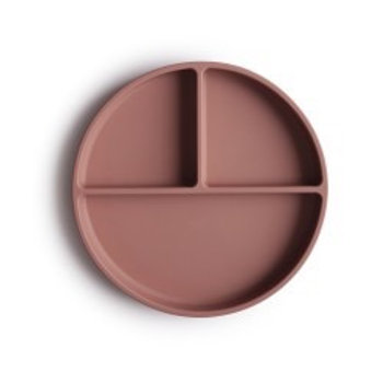 MUSHIE - SILICONE PLATE - CLOUDY MAUVE