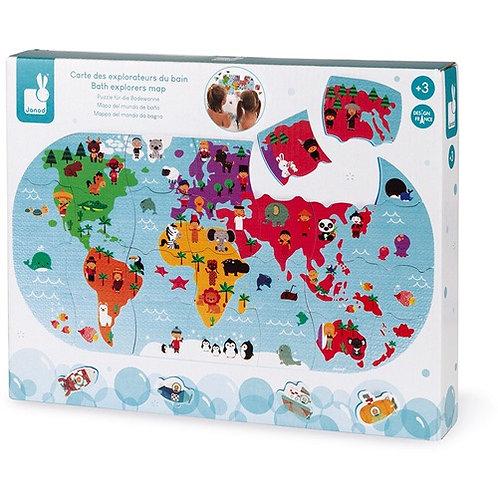 Janod Badspeelgoed - Wereldkaart