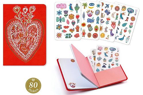 Djeco - DUO PETITS CARNETS - Carnet Stickers Aurélia
