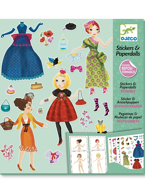 Djeco - STICKERS & PAPER DOLLS - Masive fashion