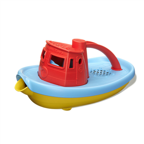 GreenToys Tugboat - Red Handle