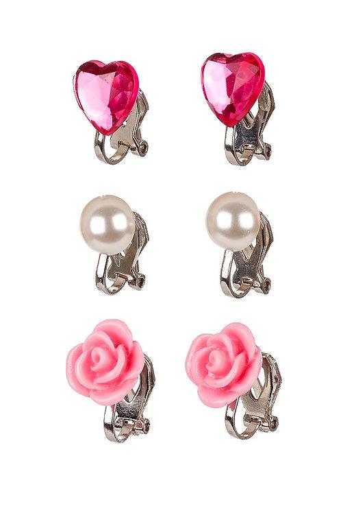 Oorclips Hila, roze
