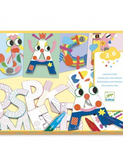 DJECO - CREATE WITH SHAPES - A world  to create, letters.