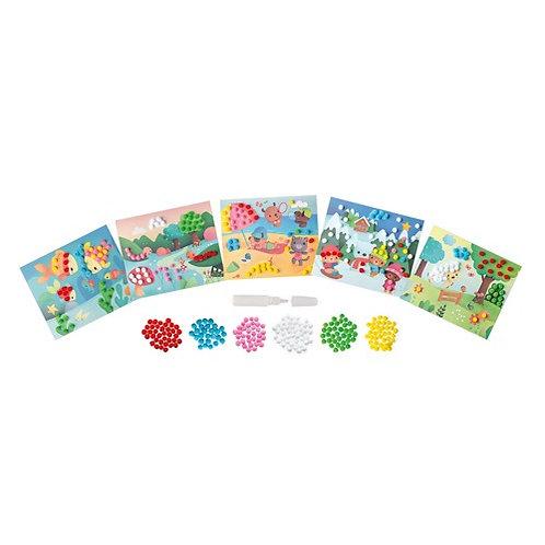 Janod Atelier - Pom-pom kaarten maken
