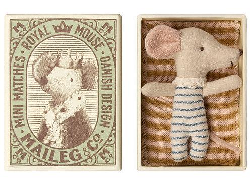 Maileg Baby mouse, Sleepy/wakey in box -  Boy