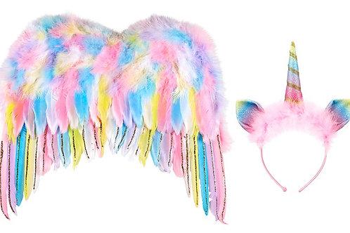 Souza - Vleugels + haarband Eenhoorn set