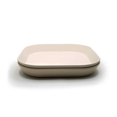 Plate square beige