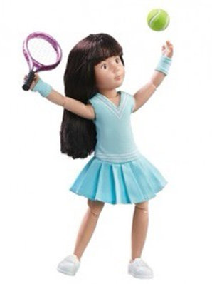 Käthe Kruse Kruselings Sofia Luna Tennis Practice - Doll Set
