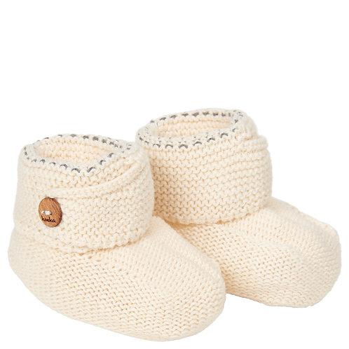 Koeka Slofjes Nanuk warm white, One Size