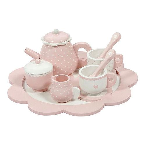 Little Dutch Houten Thee service pink