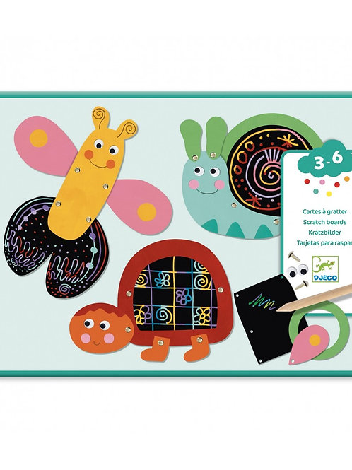 Djeco - SCRATCH CARDS FOR LITTLE ONES - Scratch the funny animals