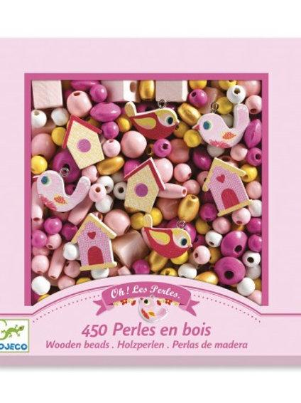 DJECO - ABUNDANCE BEADS - Wooden  beads, Birds