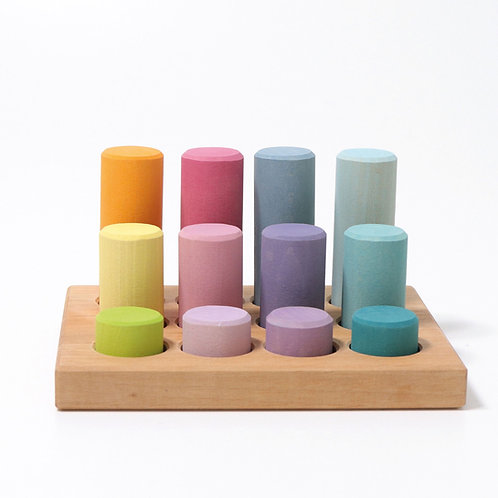 Grimm's - Stacking Game Small Pastel Rollers