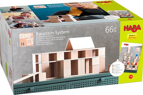 Haba - Blokken - Bouwsteensysteem Clever-Up! 2.0 (66 delen)