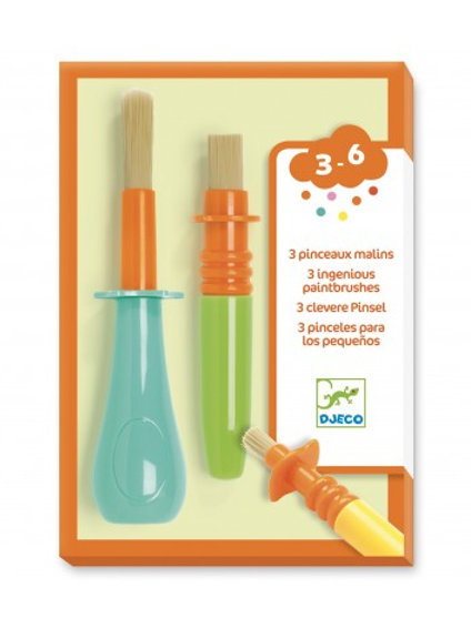 DJECO - ACCESSORIES FOR LITTLE  ONES - 3 ingenious paintbrushes