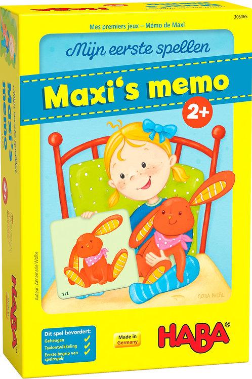 Haba - Spel - Mijn eerste spellen - Maxi's Memo
