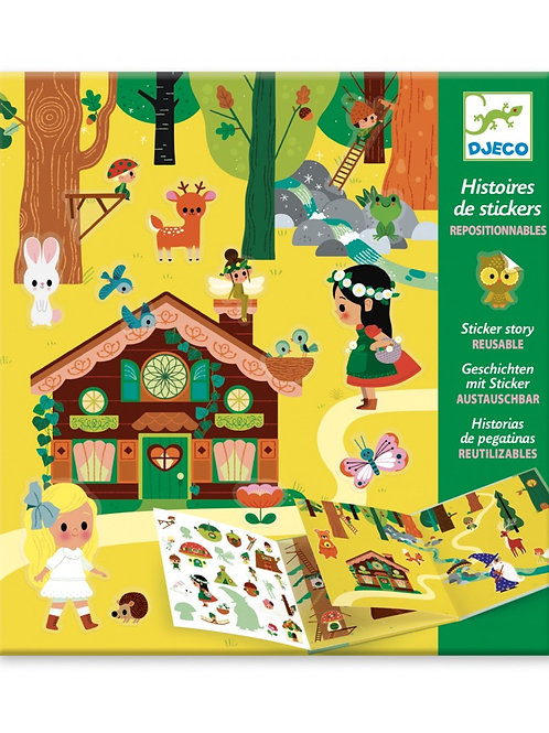 Djeco - STICKER STORY - The magical forest