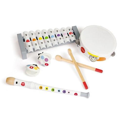 Janod Confetti - Set muziekinstrumenten wit