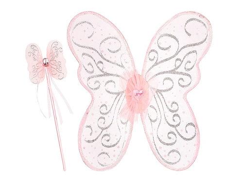 Souza - Sophia vleugelstoverstaf set, l.roze