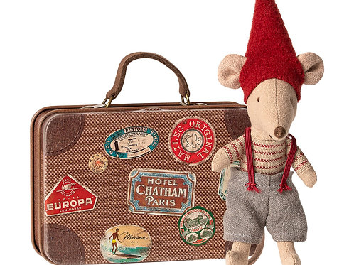 Christmas mouse in suitcase,  brother